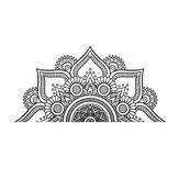 瞑想のためのハーフウォールステッカーリムーバブルウォールデカールステッカーで2サイズのマンダラ