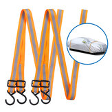 MATCC 2PCS 400CM Windbreak Belts Front Rear Gust Strap For Vehicle Cover Protection Outdoor