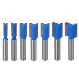 Drillpro 7Pcs 8mm Striaght Shank Router Bit Swallow Tail Woodworking Etching Fresagem Ferramentas de corte