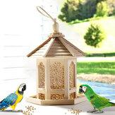 Drewniana rama domku dla ptaków Karmnik dla ptaków