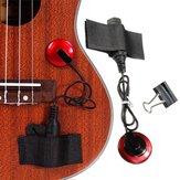 Piezo Contact Микрофон Пикап с ремешком для гитары Зажим Скрипка укулеле банджо