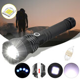XANES 1285 Zoomable USB Rechargeable LED Flashlight XHP50 Highlight Telescopic Torch 18650 26650