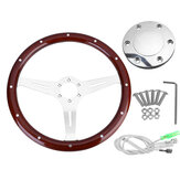 GM Modified 15 Inch Retro Solid Wood Steering Wheel For Old Santa Volkswagen T3 T25
