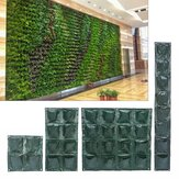 4/8/16 Pockets Vertical Garden Plant Growing Container Bag Greening Flower Wall Hanging Planter