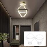 AC85-265V Modern LED Ceiling Lamp Dual Ring Chandeliers Fixture Living Room Pendant Light