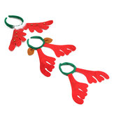 Christmas Reindeer Deer Antlers Headbrand Opaska do włosów Xmas Fancy Dress Accessories