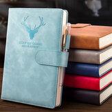 A5 Hebilla de cuaderno de 360 páginas Pluma Ranura Diseño Cuaderno de notas de diario Cuaderno de dibujo de escritura para Escuela Oficina Diseño (No incluye Pluma)