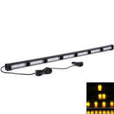 Amber LED Car Roof Emergency Warning Strobe Light Bar 17 Flash Modes Waterproof 12V-24V Truck Lorry Tractor Forklift