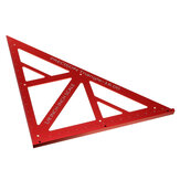 90/45 Degree Aluminum Alloy Multi-function Woodworking Triangle Ruler Inch Precision Triangle Ruler