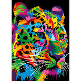 DIY 5D Diamond Painting Leopard Tiger Lion Wolf Art Craft Embroidery Stitch Kit Handmade Wall Decorations Gifts for Kids Adult
