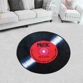Disque vinyle de 60/80/100 / 120cm imprimé Soft tapis rond de tapis de chambre de tapis de plancher de tapis de chambre