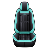 Universal PU Leather Car Front Seat Cushion Cover Non-slip Protector Mat Black
