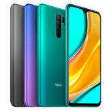 Xiaomi Redmi 9 Global Version 6.53 inch رباعي Rear الة تصوير 4GB رام 64GB روم 5020mAh Helio G80 ثماني core 4G Smartphone