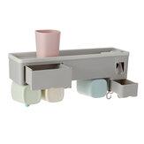 Nástěnný držák na zubní kartáček, zásobník na zubní pastu, organizér na skladování koupelen