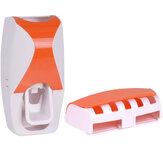 Dispensador de creme dental automático Suporte de escova de dentes para banheiro Banheiro