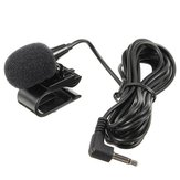 Universal 3.5mm Stereo Mini Car External Mic Wired Microphone with Fixing Clip