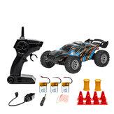 S809 Beberapa Baterai RTR 1/32 2.4G 2WD Mini RC Mobil Kecepatan Ganda Kendaraan Off-Road Anak-anak Mainan Anak Lampu LED Model