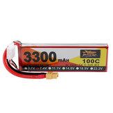 ZOP Power 7.4V 3300mAh 100C 2S Lipo Battery XT60 Plug for RC Racing Drone