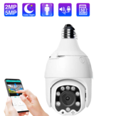 ECQ06-2MP 1080P IP Camera WiFi Wireless Auto Tracking 2MP Night Vision PTZ Waterproof Speed Dome Surveillance PTZ Camera E27 Connector TF Card Storage