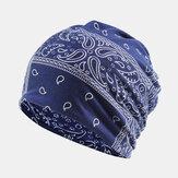 Women Cotton Multi-purpose Printing Beanie Cap Neck Gaiter Face Shield Hats Bandana
