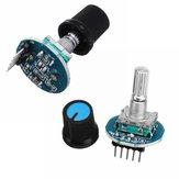 2Pcs Вращающаяся крышка потенциометра Ручка цифрового управления Приемник Модуль декодера Модуль Geekcreit для Arduino поворотного кодера - продук