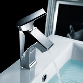 Modern Chrome Brass Bathroom Basin Faucet Single Hole Hot Cold Water Mixer Tap 1/2