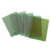 5 adet 5x7 cm 5 * 7 Tek Taraflı Prototip PCB DIY Evrensel Baskılı Devre PCB Cam Elyaf Evrensel Kurulu Yeşil Yağ Epoksi Protokolü