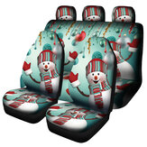 7PCS Christmas Print Car Auto Cover Seat Cover Protector Universal Fit Pour SUV