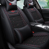 ( Front + Rear )  Wear Resistant Breathable Leather Car Seat Cushion Covers For Five Seats Car General Auto Accessories
