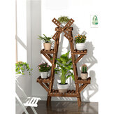 Multi-layer Solid Wood Plant Rack Decorative Flower Stand for Indoor & Outdoor Storage Shelf