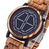 BOBO BIRD Creative Night Vision Wooden Quartz Watch