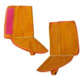 1ペア8.3インチ牛革レザー溶接足保護カバースリーブ難燃性安全手袋