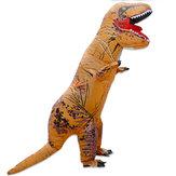 يصل إلى 2.2 متر نفخ لعب ديناصور هالوين زي ملابس الكبار ملابس تنكرية الحيوان مع مروحة