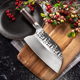 KCASA MCD39 Stainless Steel Forged Knife Meat Cleaver Butcher Knife Kitchen Chef Knife Tool With Ebony Wood Handle