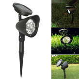 4 LED Solar Power Garden Lâmpada Spot Lights Outdoor Gramado Paisagem Path Spotlight
