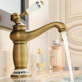 Kran łazienkowy Mosiężna umywalka Kran Współczesny Pojedynczy uchwyt Krany wodne Antyczne brązowe wykończenie