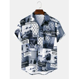 Mens Designer Athlete Competition Print  Short Sleeve Fashion Shirts