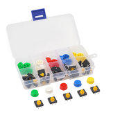 Colorful Key Press Button Module Push Buttons Switch Module Set High Level Output-5PCS Each Color