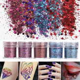 Shining Mixed Brilho Powder Sequins Decouação 3D Dust Red Purple Halloween Unhas Art Ornaments