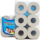 6/10 Rolls / Pack 3 Lagen Toiletpapier Home Kitchen Toiletpapier Soft Sterke Handdoeken voor Familie Dagelijks Gebruik