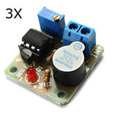 3Pcs 9V 12V Battery Sound and Light Alarm Protection Module Against Over-discharge Board