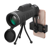 40x60 Monocular HD Optic BAK4 Low Light Night Vision Telescope With Phone Holder Clip Tripod Outdoor Camping