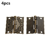 4 pcs Antique Box Hinge  Wooden Gift  Jewelry  Printing Packaging  Case  Hinge