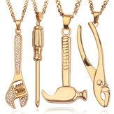 Fashion Hip Hop Wrench schroevendraaier legering ketting