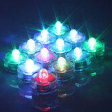 12Pcs Waterproof Flameless Electronic Colorful Wedding Chirstmas Decoration Vase Candle Lights