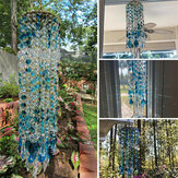 Blue White Crystal Wind Chimes Extended Version Free Cleaning Fuss-free Assembly Wind Chimes for Garden Patio Lawn