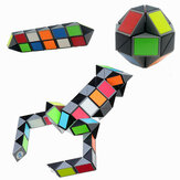 3D Colorful Magic Cube 72 Segments Speed Twist Snake Magic Cube Puzzle Sticker Educational Toys