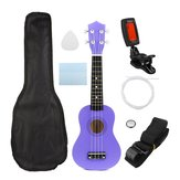 21 Inch Economic Soprano Ukulele Uke Musical Instrument With Gig bag Strings Tuner Purple
