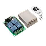 433mhz DC 12V Type d'apprentissage 4CH Channel Télécommande sans fil Interrupteur à quatre voies Module de contrôle à relais