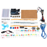 KW-AR-Mini Kit with 17 Classes UNO R3 DC Motor Breadboard LED Components Set Geekcreit for Arduino - products that work with official Arduino boards
